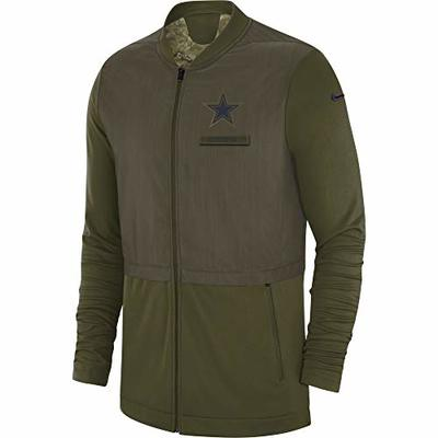 NFL Dallas Cowboys Mens STS Elite Hybrid Jacket, X-Large, Olive