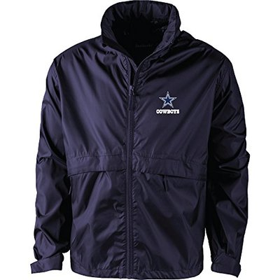 NFL Dallas Cowboys Men's Sportsman Waterproof windbreaker, Large, Team Color