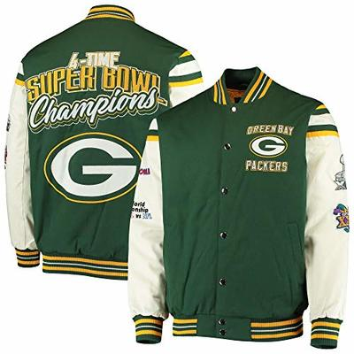 NFL Green Bay Packers 4 Time Super Bowl Champions Victory Formation Varsity Jacket (XXX-Large)