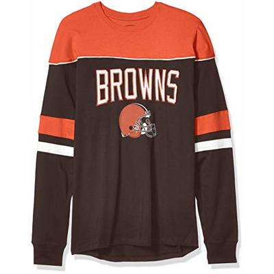 OTS NFL Cleveland Browns Men's Division Long Sleeve Tee, Division, X-Large