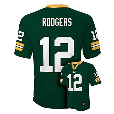 Aaron Rodgers Green Bay Packers Green NFL Youth 2013 Season Mid-Tier Jersey (X-Large 18/20)