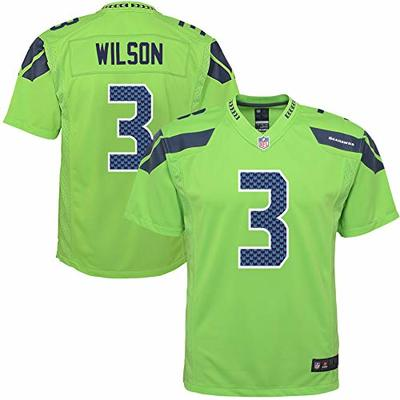 NFL Youth 8-20 Color Rush Alternate Color Game Day Player Jersey (Russell Wilson Seattle Seahawks Green Color Rush, 8)