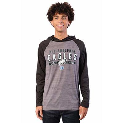 NFL Ultra Game Philadelphia Eagles Athletic Performance Soft Pullover Hoodie Sweatshirt, Large, Team Color