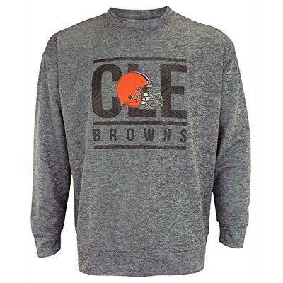 Zubaz NFL Cleveland Browns Men's Performance Lightweight French Terry Crew Neck Sweatshirt Size XLarge