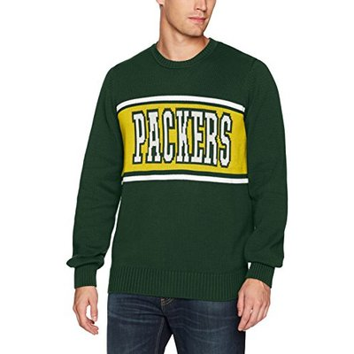 OTS NFL Green Bay Packers Men's Pullover Sweater, Logo, Large