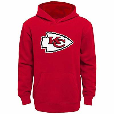 NFL Boys Youth 8-20 Team Color Primary Logo Prime Pullover Fleece Hoodie (Kansas City Chiefs, Youth Large 14-16)