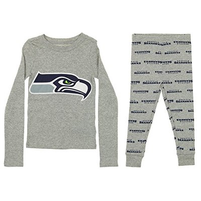 Outerstuff NFL Toddlers Pant and Long Sleeve Shirt Two-Piece Set, Seattle Seahawks, 3T