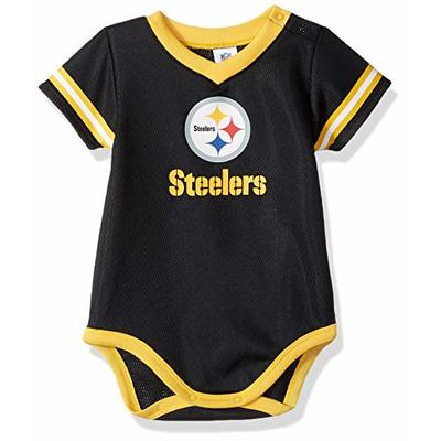 NFL Pittsburgh Steelers Team Jersey Bodysuit, black/gold/white Pittsburgh Steelers, 0-3 Months (138781160STE03M-001)