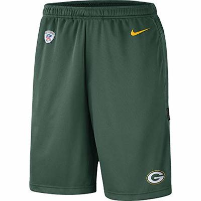 Nike NFL Boys Youth 8-20 Sideline Coaches Performance Dri-Fit Shorts (Green Bay Packers, Youth Large 14-16)