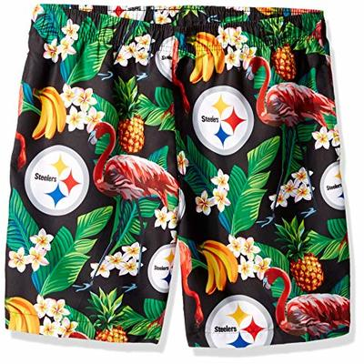 NFL Pittsburgh Steelers Mens Floral Shortsfloral Shorts, Team Color, X-Large