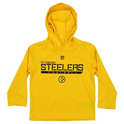 Outerstuff NFL Little Boys Pittsburgh Steelers Lightweight Supreme Hoodie, Yellow, Large
