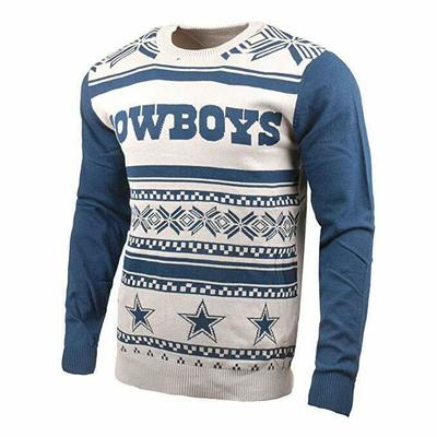 NFL Dallas Cowboys Two-Tone Cotton Ugly Sweater, Blue, XX-Large