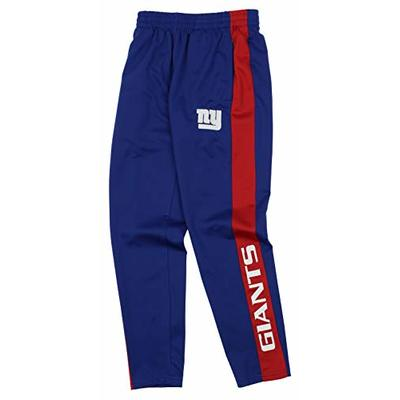Outerstuff NFL Youth Boys (8-20) Side Stripe Slim Fit Performance Pant, New York Giants Medium (10-12)