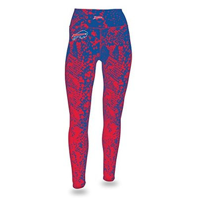Zubaz NFL Buffalo Bills Women's Gradient Print Team Logo Leggings, Small, Blue/Red