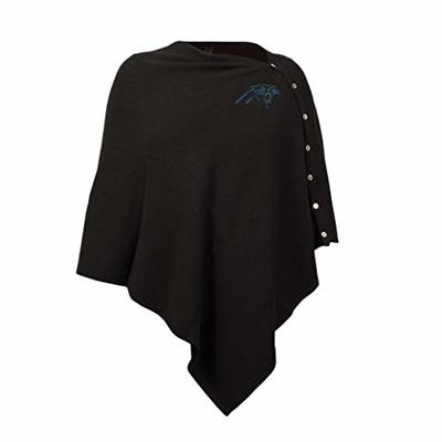 NFL Carolina Panthers Black Out Button Poncho