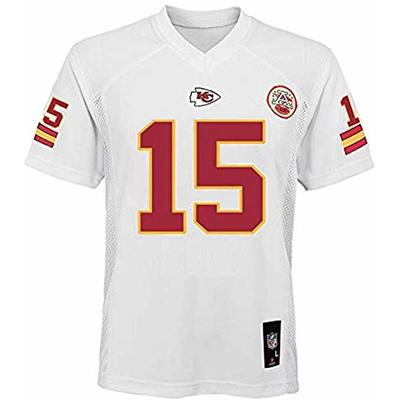 Patrick Mahomes Kansas City Chiefs NFL Youth 8-20 White Home Mid-Tier Jersey (Youth Large 14-16)