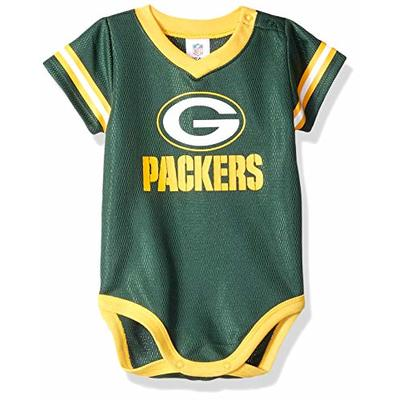 NFL Green Bay Packers Baby-Boy Dazzle Bodysuit, Team Color, 0-3 Months (138781160PKR03M-308)