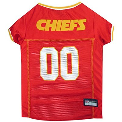 NFL KANSAS CITY CHIEFS DOG Jersey, Medium Shirt Apparel Jersey for DOGS or CATS & Small Pets