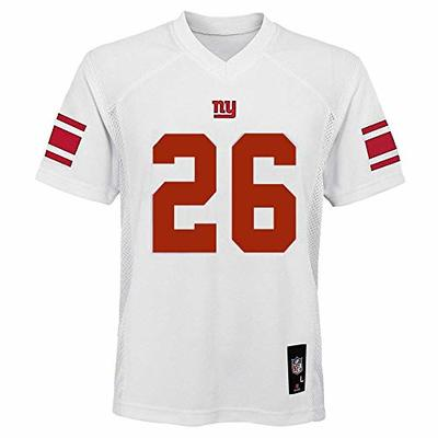 Saquon Barkley New York Giants NFL Youth 8-20 White Road Mid-Tier Jersey (Youth Large 14-16)