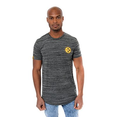 Ultra Game NFL Pittsburgh Steelers Mens Active Basic Space Dye Tee Shirt, Space Dye, Large