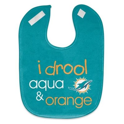 WinCraft NFL Miami Dolphins WCRA1961014 All Pro Baby Bib