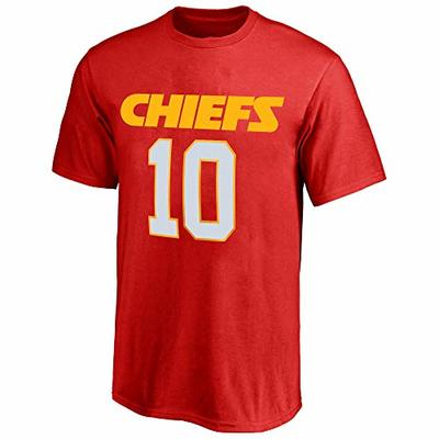 NFL Youth 8-20 Team Color Polyester Performance Mainliner Player Name and Number Jersey T-Shirt (Large 14/16, Tyreek Hill Kansas City Chiefs Red)