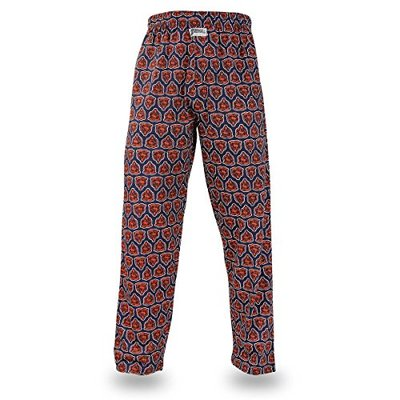 Zubaz NFL Chicago Bears Men's Team Logo Print Comfy Jersey Pants, Medium, Navy