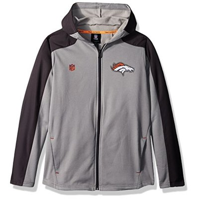 "NFL Denver Broncos Boys Outerstuff ""Delta"" Full Zip Jacket, Team Color , Youth Small (6-8)"