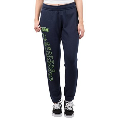 Ultra Game NFL Seattle Seahawks Womens Relaxed Fit Jogger, Navy, Medium