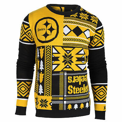 Pittsburgh Steelers Patches Crew Neck Sweater