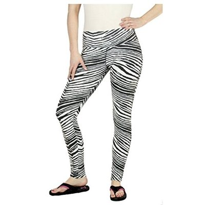 Zubaz Oakland Raiders NFL Women's Team Color Tiger Print Legging