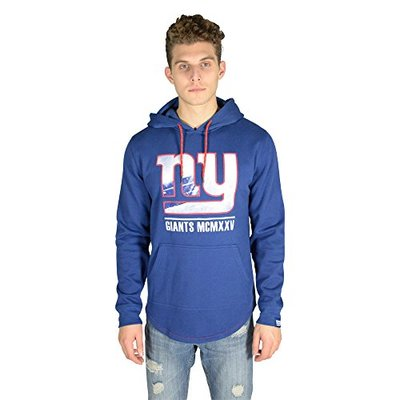 Ultra Game NFL New York Giants Mens Fleece Hoodie Pullover Sweatshirt Embroidered JTM1731A, Team Color, Small