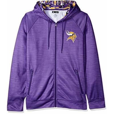 NFL Minnesota Vikings Male Full Zip Camo Space Dye Hoodie, Large, Purple