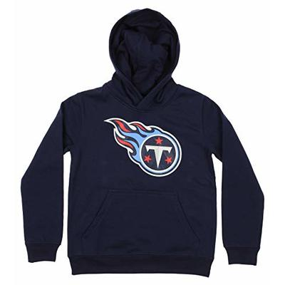 Outerstuff NFL Youth Boy's (8-20) Primary Logo Team Color Fleece Hoodie, Tennessee Titans Medium(10-12)