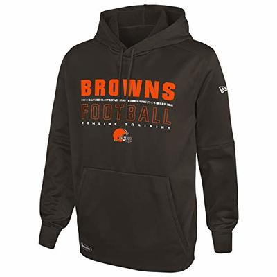 New Era NFL Football Men's Audible Pullover Performance Hoodie, Cleveland Browns, X-Large