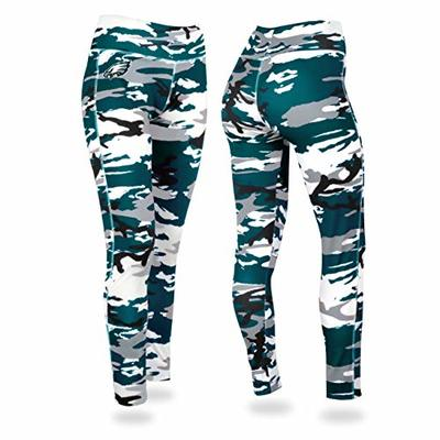 NFL Philadelphia Eagles Women's Camo Leggings, Green/Silver, Small