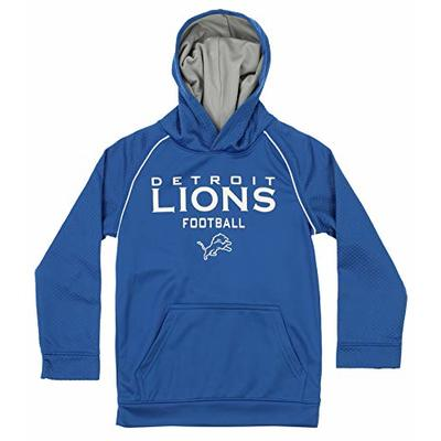 Outerstuff NFL Big Boys (4-18) Performance Team Color Textured Hoodie, Detroit Lions Small (6/7)