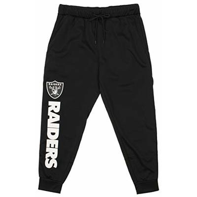 Zubaz NFL Oakland Raiders Men's Poly Fleece Jogger Size XLarge