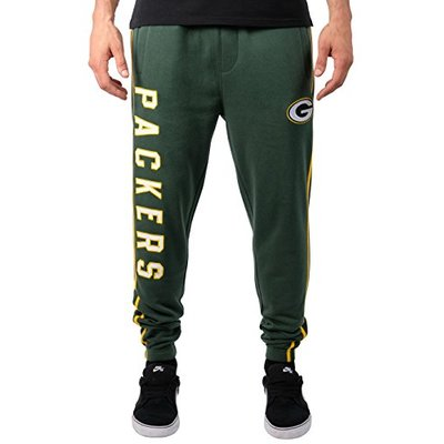 Ultra Game NFL Green Bay Packers Mens Active Basic Jogger Fleece Pants, Team Color 18, Small