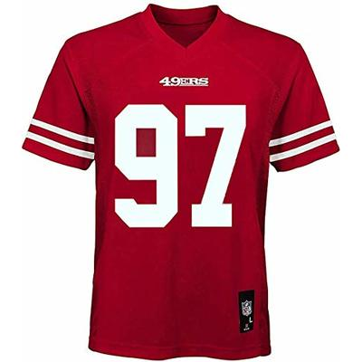 Nick Bosa San Francisco 49ers NFL Boys Youth 8-20 Red Home Mid-Tier Jersey (Youth Medium 10-12)