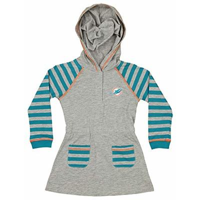 Outerstuff NFL Infant and Toddler Girls (12M-4T) Long Sleeve Hooded Dress and Legging Set, Miami Dolphins 4T
