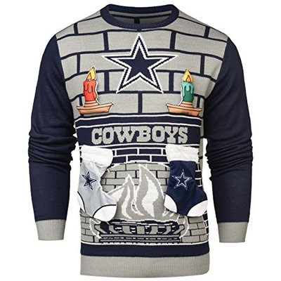 NFL Dallas Cowboys 3D Ugly Sweater, Large