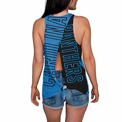 Carolina Panthers NFL Womens Tie-Breaker Sleeveless Top – XL