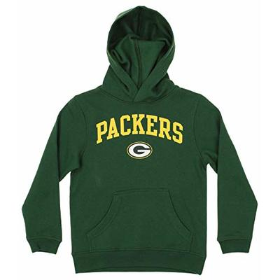 Outerstuff NFL Youth Boys (4-18) Team Color Fleece Hoodie, Green Bay Packers X-Large (14-16)