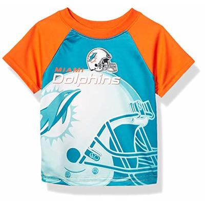 NFL Miami Dolphins Boys Short Sleeve T-Shirt, Multi-Color, 2T