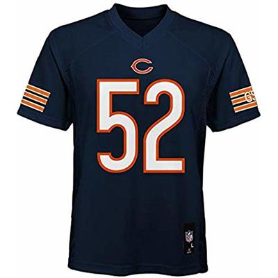 Outerstuff Khalil Mack Chicago Bears NFL Youth 8-20 Navy Home Mid-Tier Jersey (Youth Large 14-16)