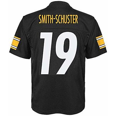 Juju Smith-Schuster Pittsburgh Steelers NFL Youth 8-20 Black Home Mid-Tier Jersey (Youth Small 8)
