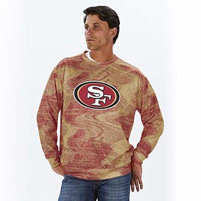 NFL San Francisco 49ers Men's Crew Neck Sweatshirt, Red/Gold, XX-Large