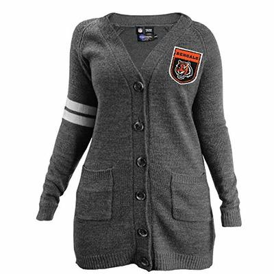 NFL Cincinnati Bengals Varsity Cardigan, Small/Medium