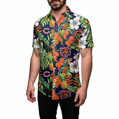 Chicago Bears Floral Button Up Shirt